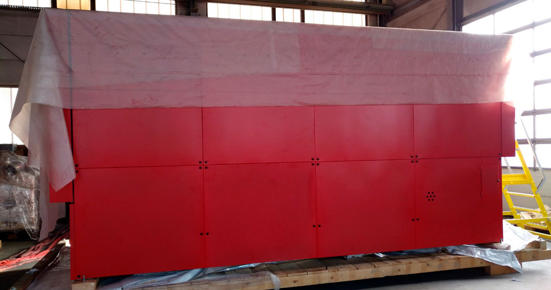 BIOMASS HEATING SYSTEM SHIPPED TO THE PILOT PLANT SITE